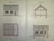 Les plans de l'école publique d'Auxillac en 1903